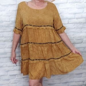 Easel fall dress tiered ruffles